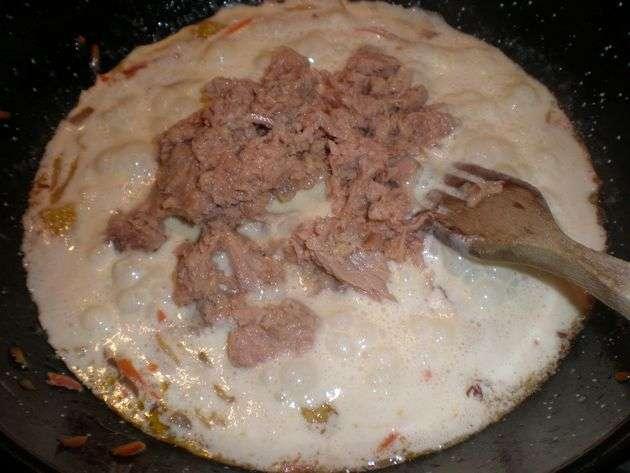 salsaconatn - Espaguetis integrales, con ensalada china de mazorquitas