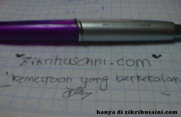 zikrihusaini.com, kemesraan yang berkekalan, pen, picture pen, domain name